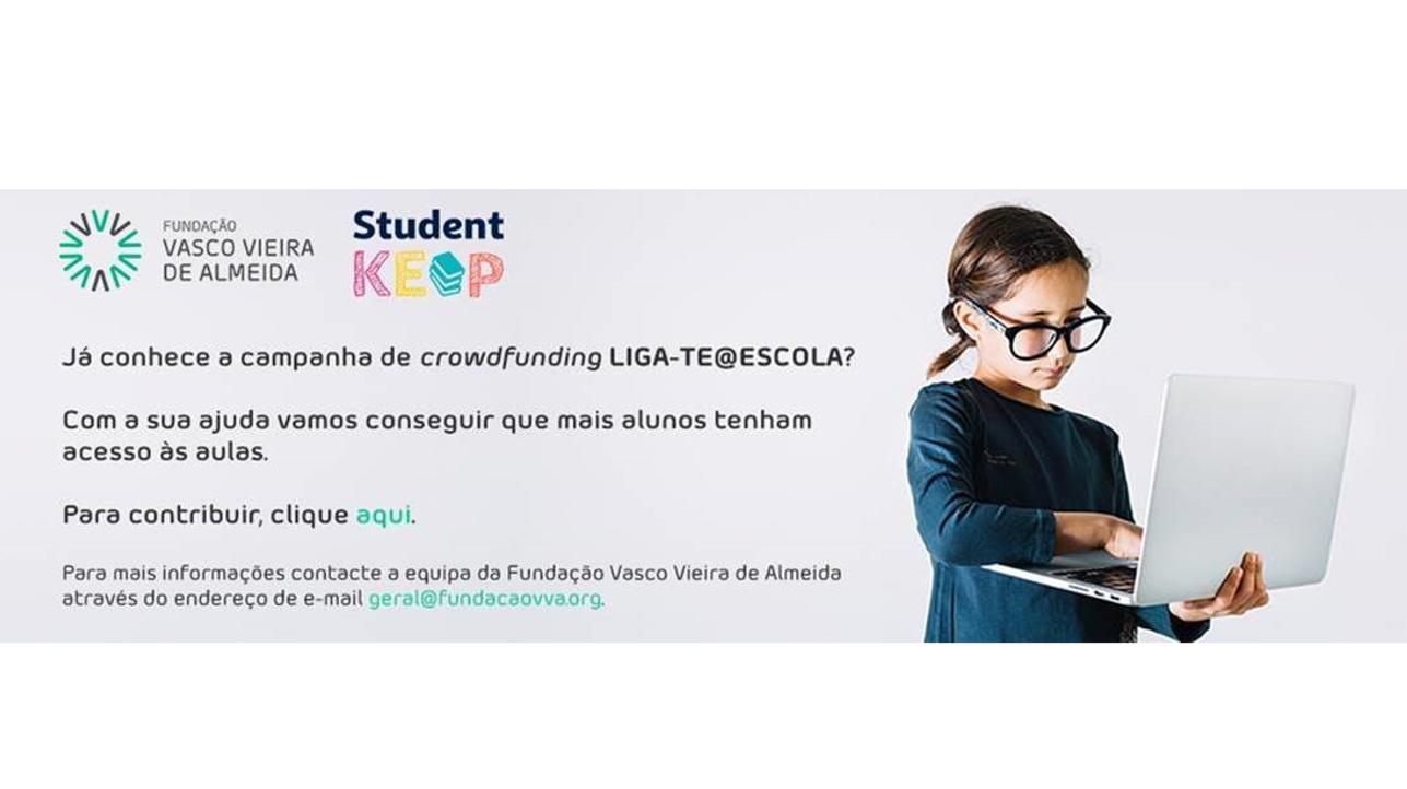 Fundação Vasco Vieira de Almeida promove a plataforma de crowdfunding LIGA-TE@ESCOLA