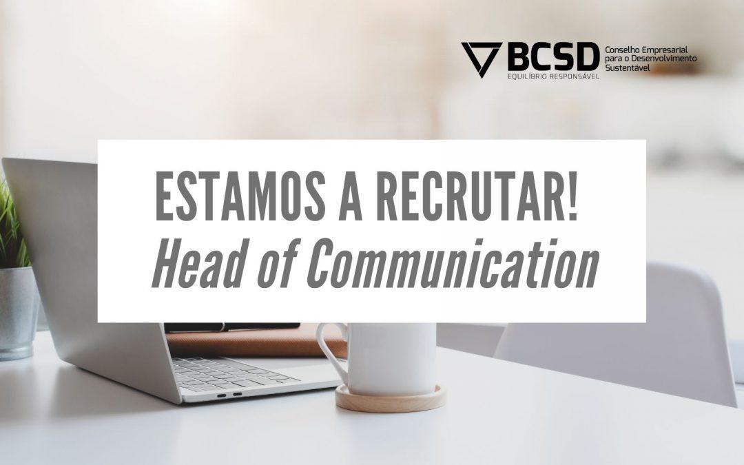 Recrutamento BCSD Portugal | Head of Communication