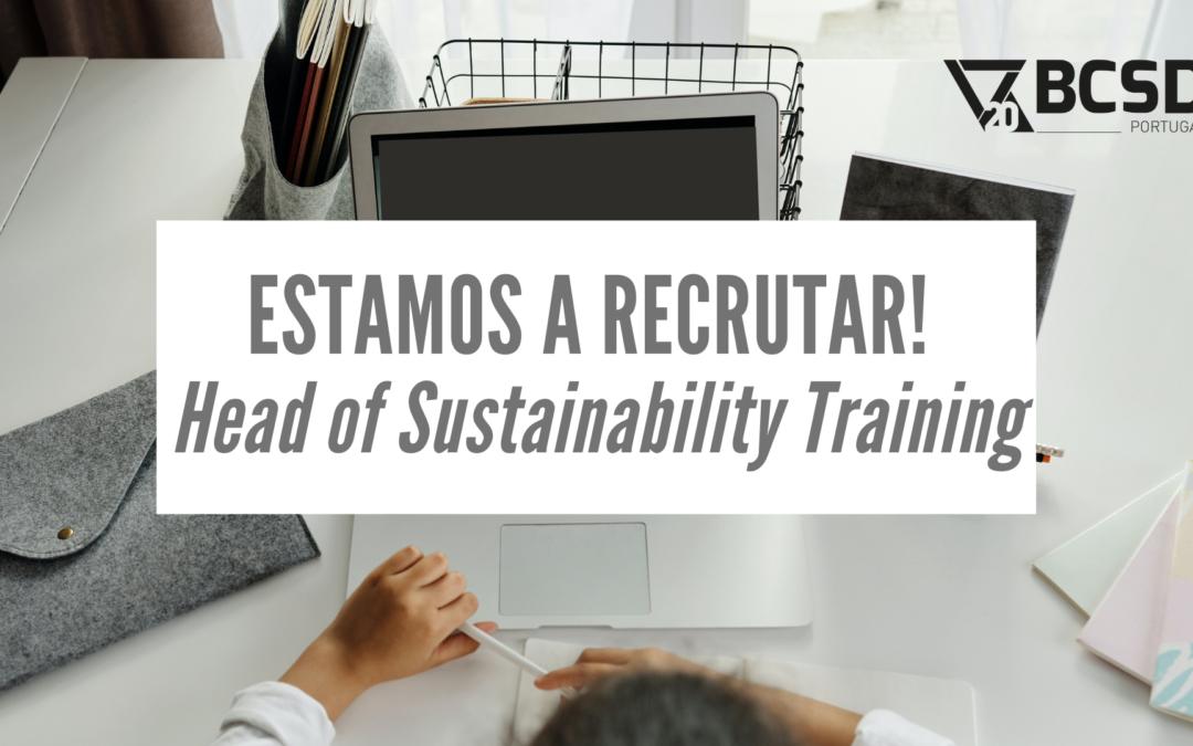 BCSD Portugal está a recrutar Head of Sustainability Training